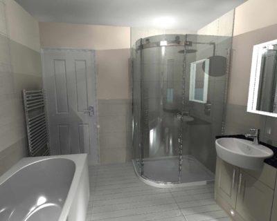 jenkins bathroom - corner shower