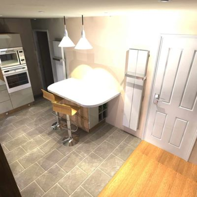 kitchen - large grey tiled floor- BASCS swindon