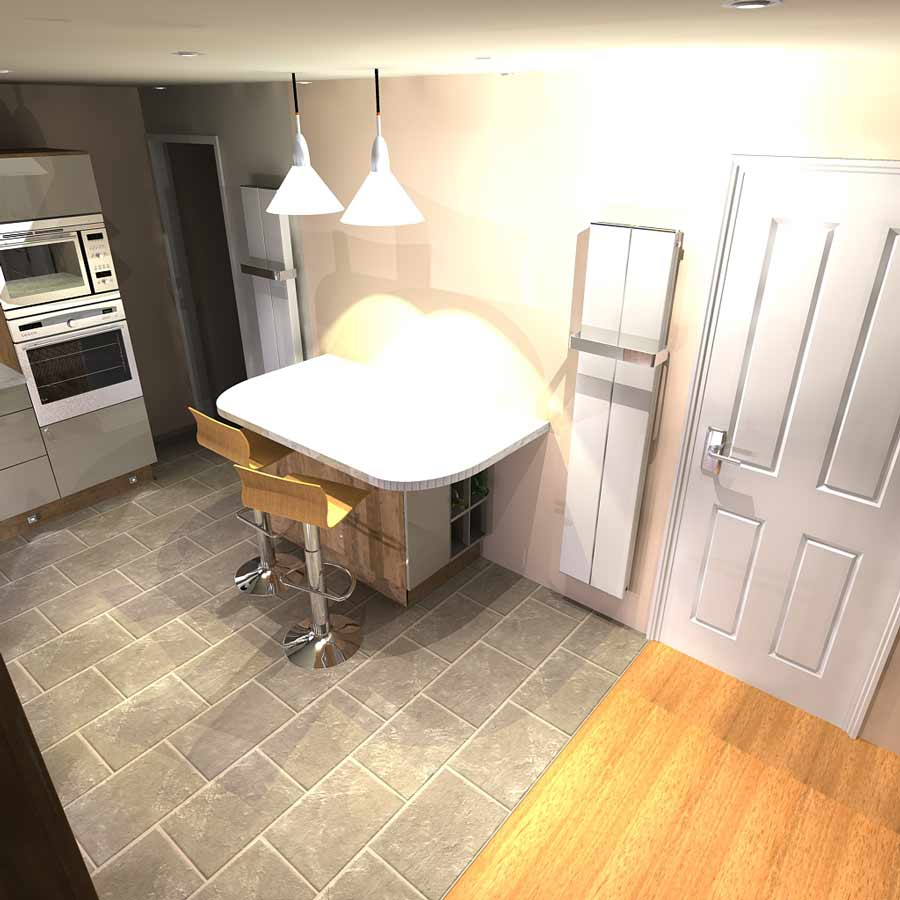 kitchen - large grey tiled floor- BASCS swindon